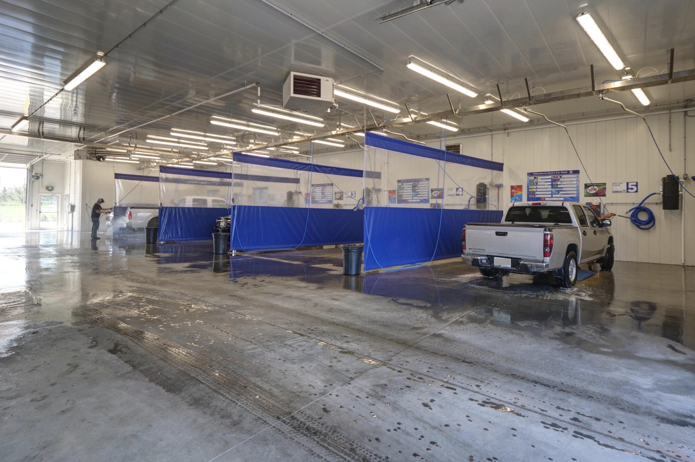 Car wash bays